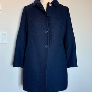 Talbots Merino Wool Coat | Navy Blue | 18W Petite